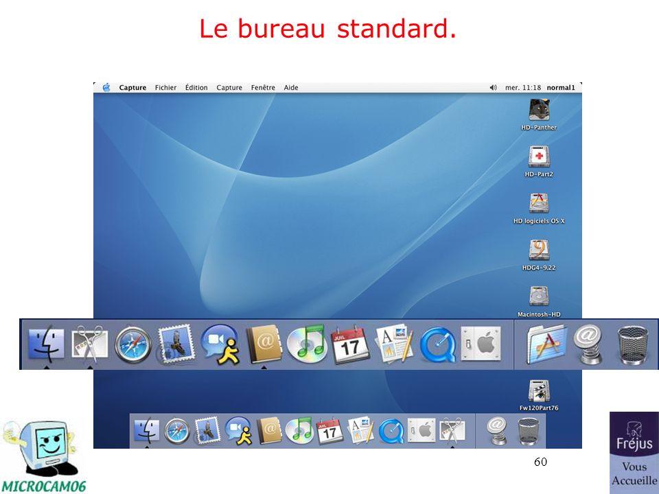 60 Le bureau standard.