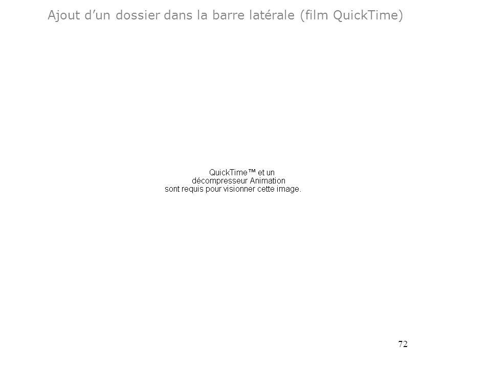 72 Ajout dun dossier dans la barre latérale (film QuickTime)