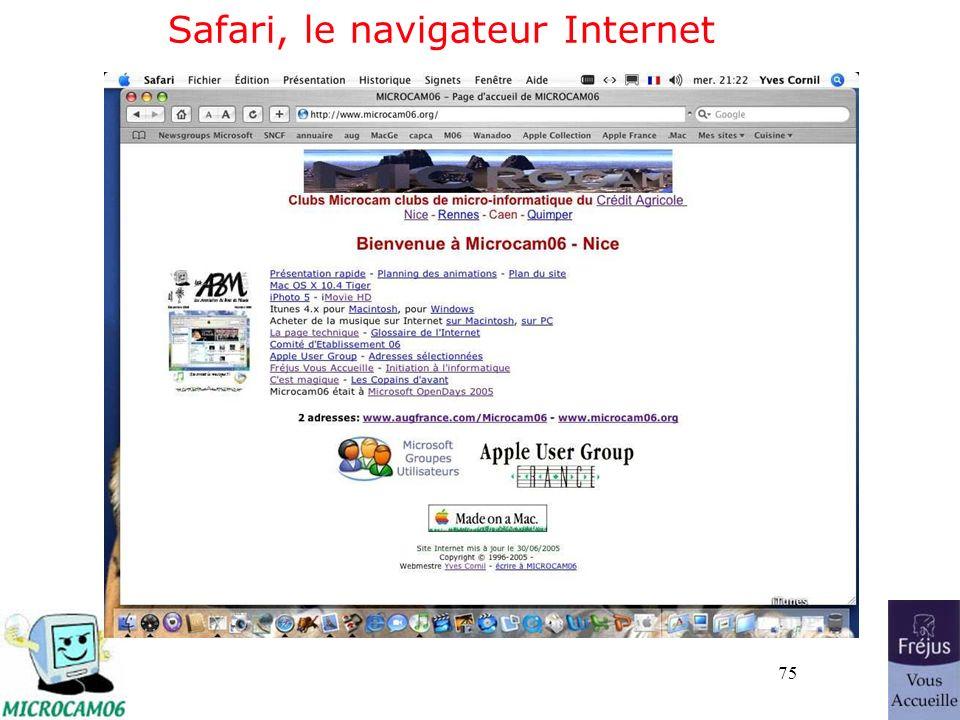 75 Safari, le navigateur Internet