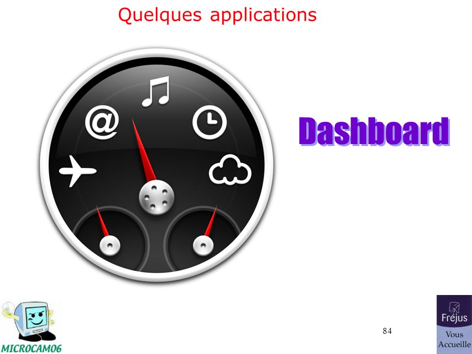 84 Quelques applications Dashboard