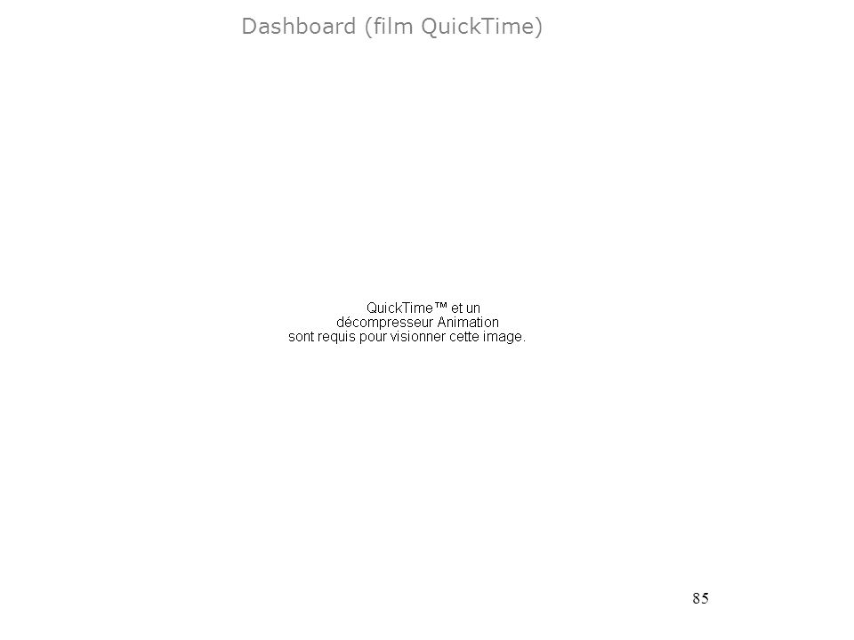 85 Dashboard (film QuickTime)