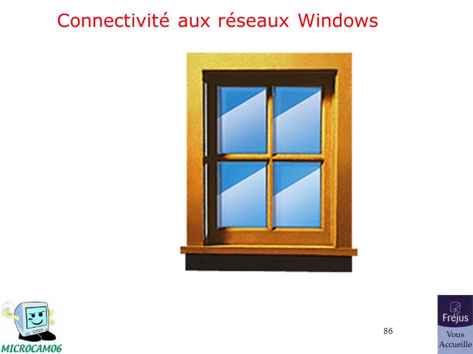 86 Connectivité aux réseaux Windows