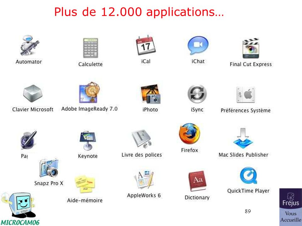 89 Plus de 12.000 applications…