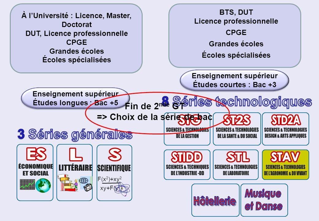 F(x 2 )+xy 2 xy+F(y 2 ) Enseignement supérieur Études longues : Bac +5 À lUniversité : Licence, Master, Doctorat DUT, Licence professionnelle CPGE Gra