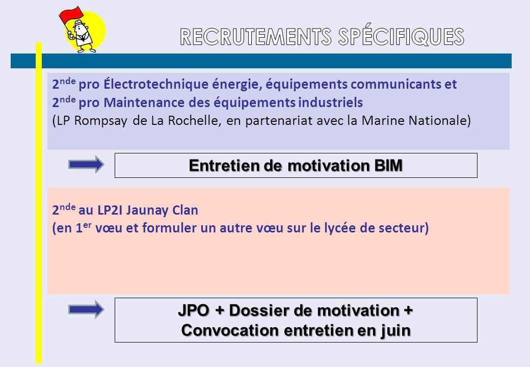 2 nde pro Électrotechnique énergie, équipements communicants et 2 nde pro Maintenance des équipements industriels (LP Rompsay de La Rochelle, en parte