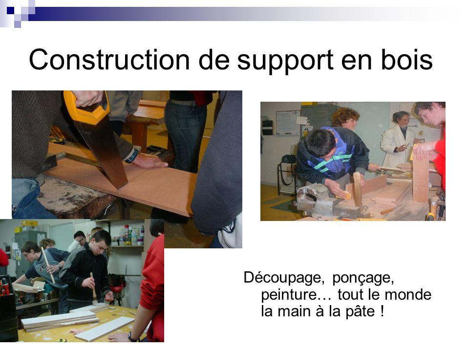Construction de support en bois Découpage, ponçage, peinture… tout le monde la main à la pâte !
