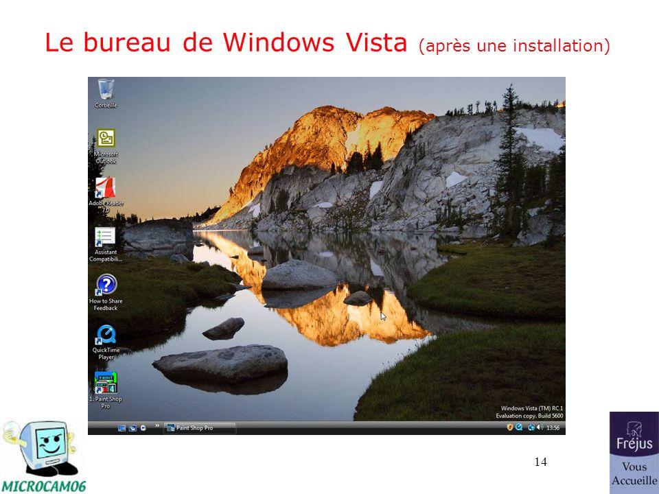 14 Le bureau de Windows Vista (après une installation)