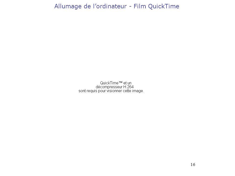 16 Allumage de lordinateur - Film QuickTime
