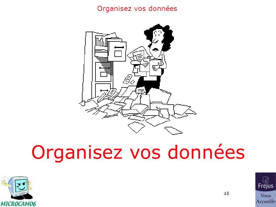 48 Organisez vos données