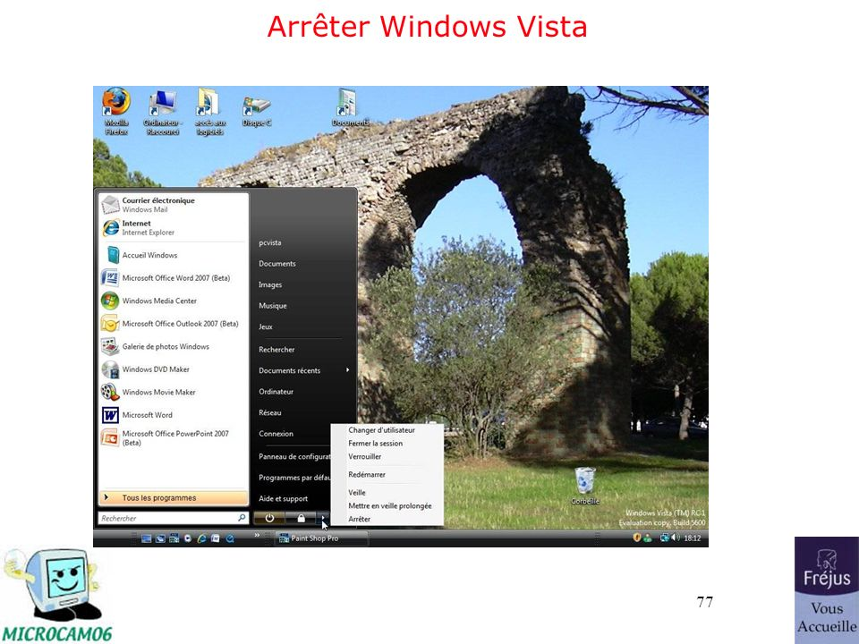 77 Arrêter Windows Vista