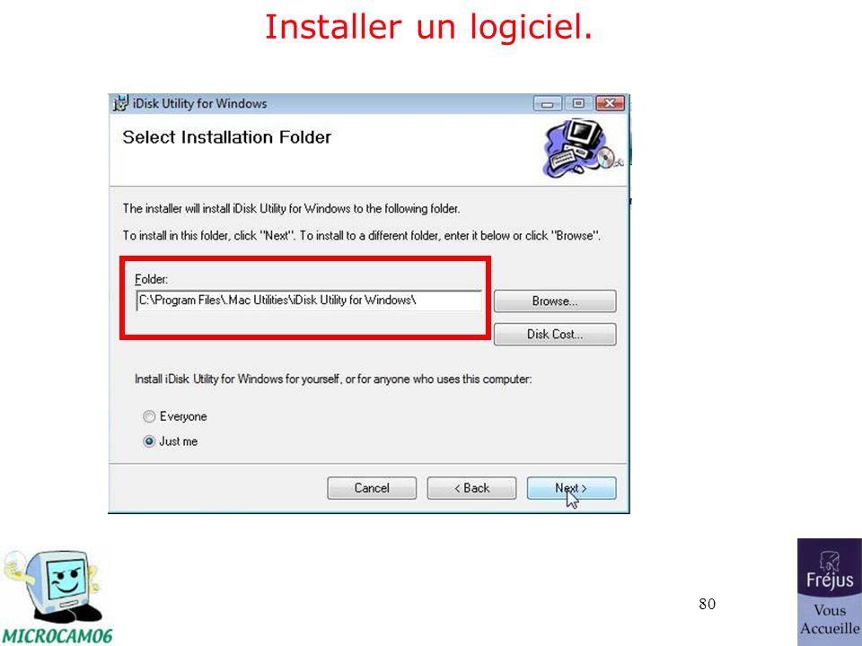 80 Installer un logiciel.