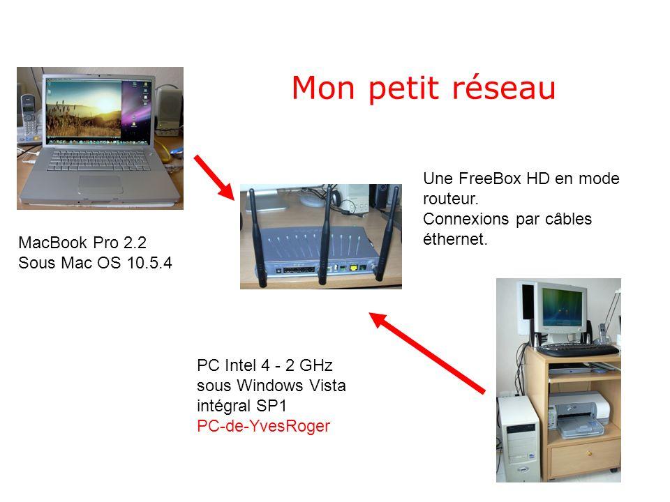 Connexion dun PC sous Windows Vista à un Mac