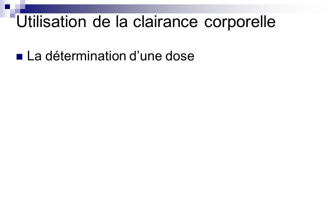 La détermination dune dose