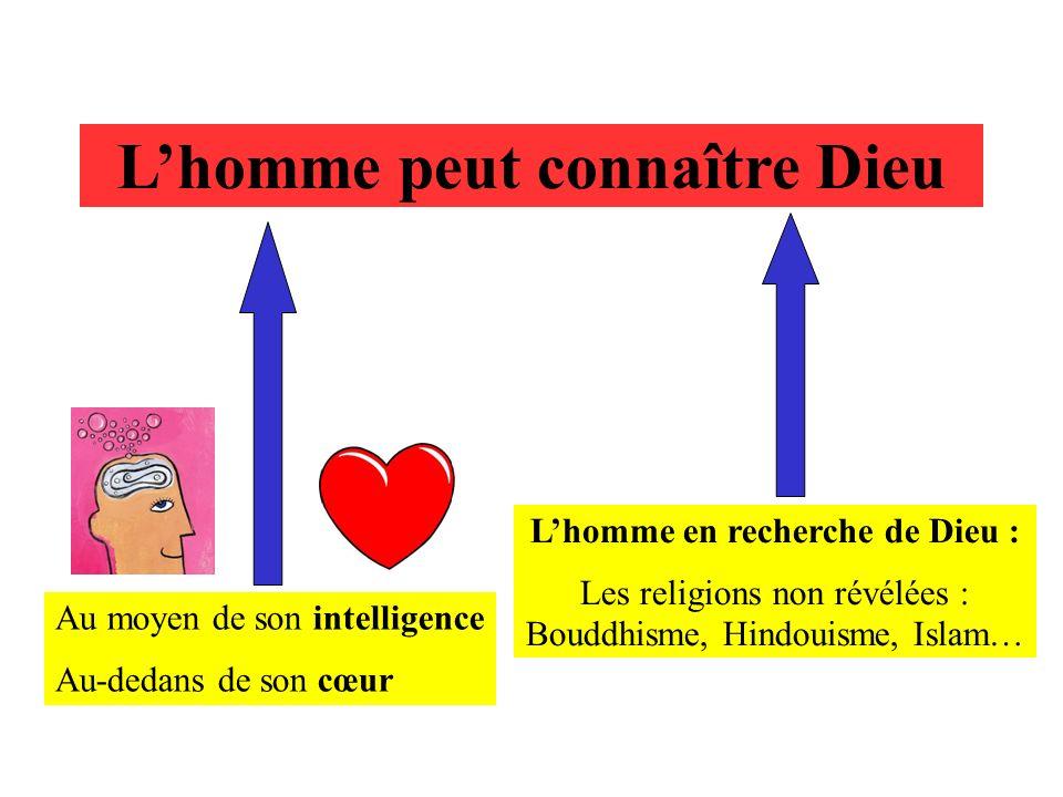 Lhomme peut connaître Dieu Au moyen de son intelligence Au-dedans de son cœur Lhomme en recherche de Dieu : Les religions non révélées : Bouddhisme, H
