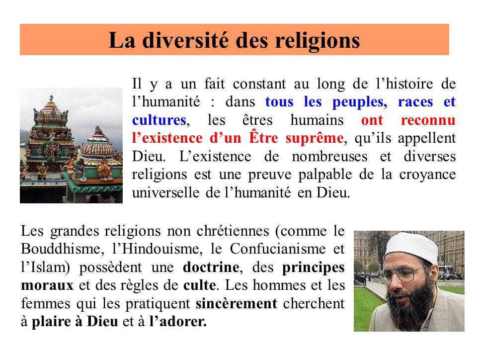 Il y a un fait constant au long de lhistoire de lhumanité : dans tous les peuples, races et cultures, les êtres humains ont reconnu lexistence dun Êtr