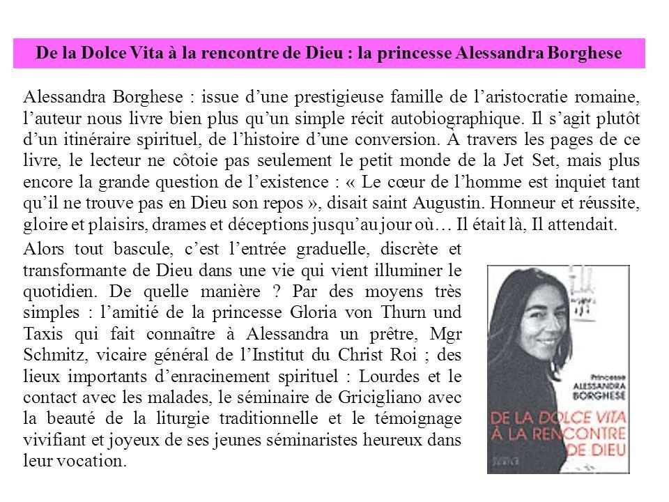 Alessandra Borghese : issue dune prestigieuse famille de laristocratie romaine, lauteur nous livre bien plus quun simple récit autobiographique. Il sa