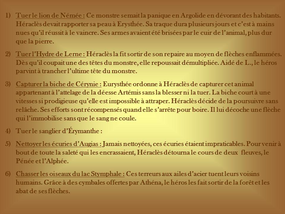 7) Capturer le taureau de Crète : Père du célèbre Minotaure, cet animal ravage tous les territoires qui lentourent.