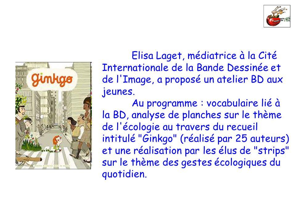 Elisa Laget, médiatrice à la Cité Internationale de la Bande Dessinée et de l'Image, a proposé un atelier BD aux jeunes. Au programme : vocabulaire li