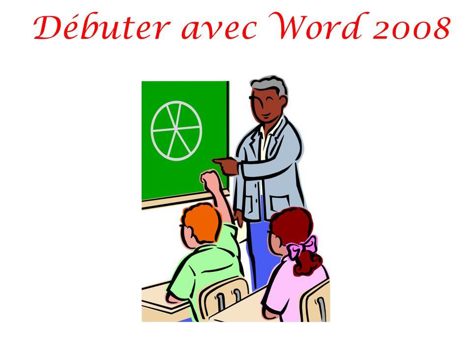 Débuter avec Word 2008
