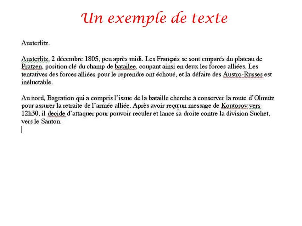 Un exemple de texte