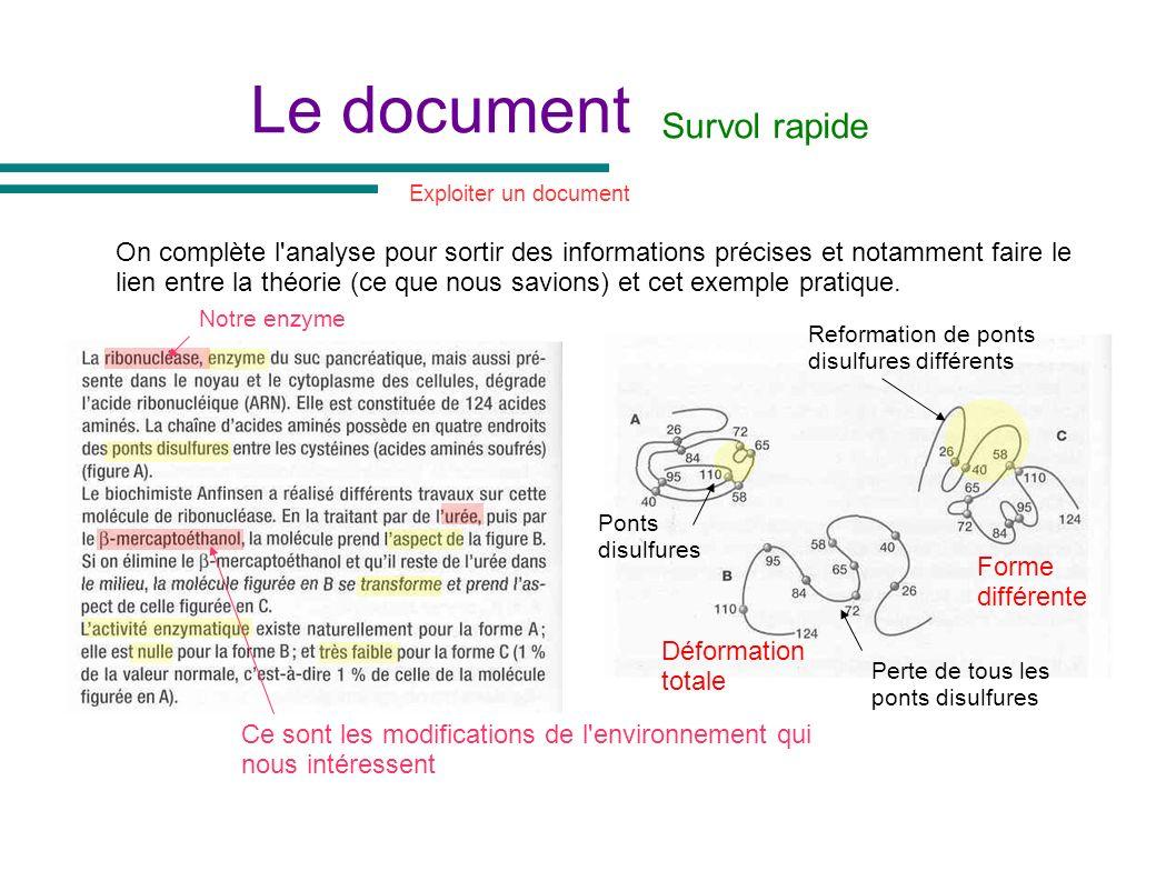 Le document On complète l'analyse pour sortir des informations précises et notamment faire le lien entre la théorie (ce que nous savions) et cet exemp