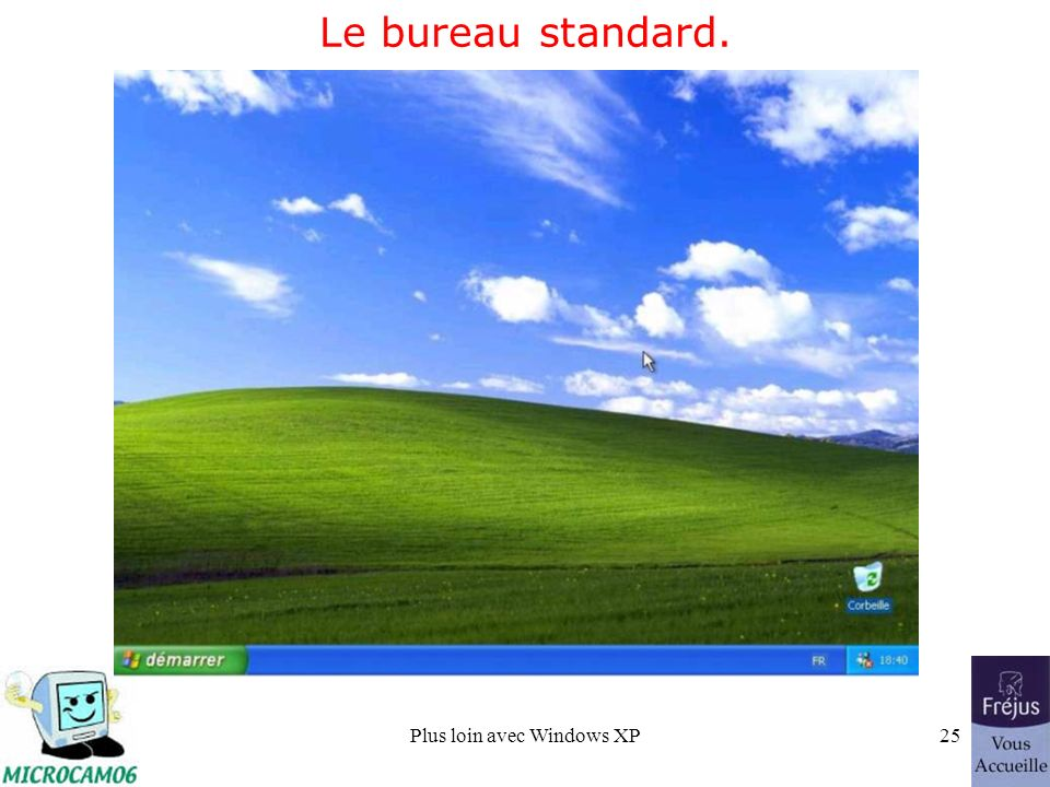 Plus loin avec Windows XP25 Le bureau standard.