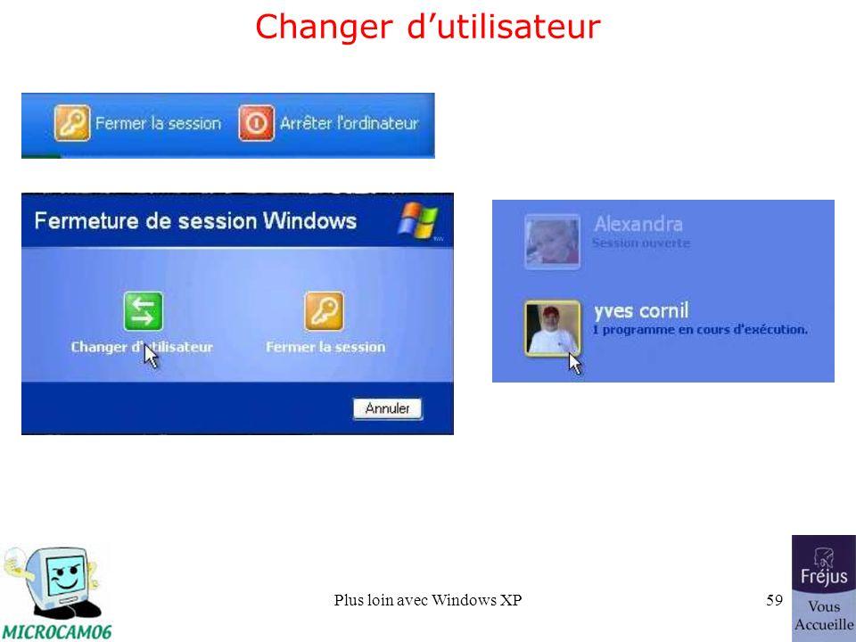 Plus loin avec Windows XP59 Changer dutilisateur