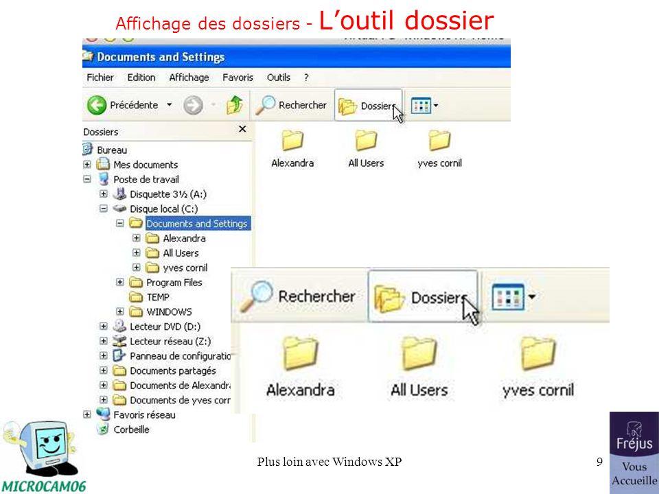 Plus loin avec Windows XP9 Affichage des dossiers - Loutil dossier