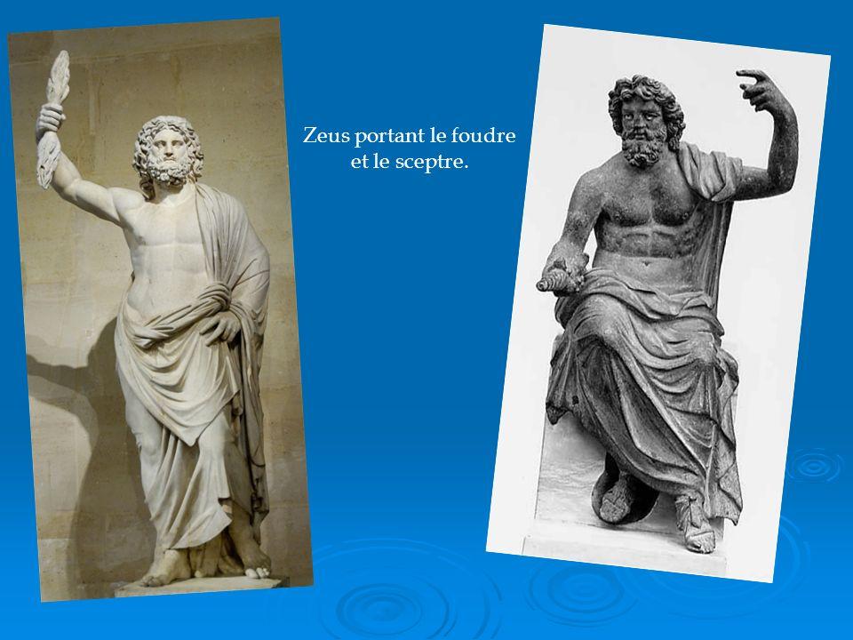 Zeus portant le foudre et le sceptre.