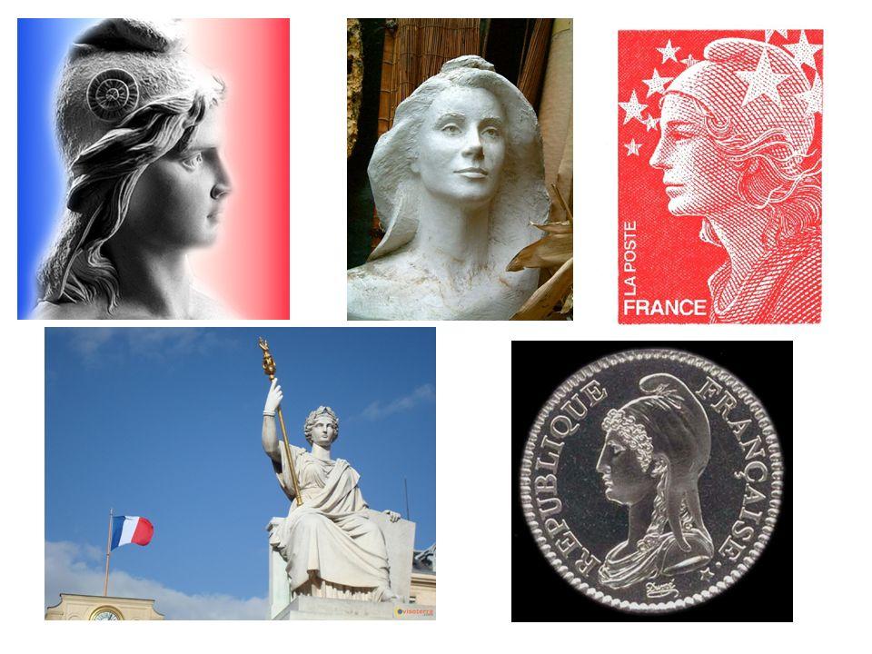 Bien que la Constitution de 1958 ait privilégié le drapeau tricolore comme emblème national, Marianne incarne aussi la République Française.