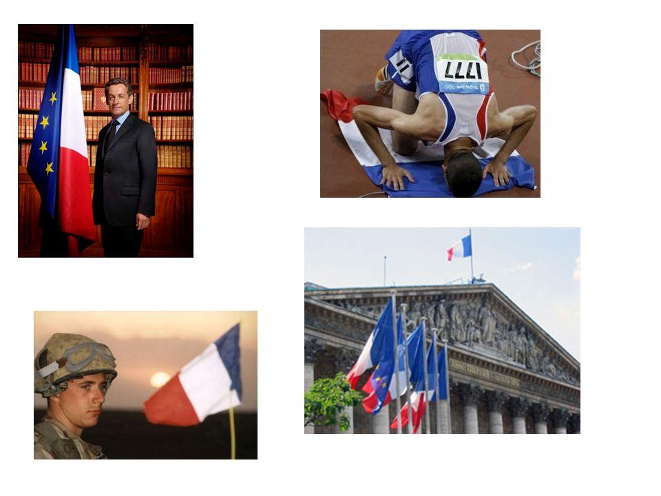 Emblème national de la Vème République, le drapeau tricolore est né de la réunion, sous la Révolution française, des couleurs du roi (blanc) et de la ville de Paris (bleu et rouge).