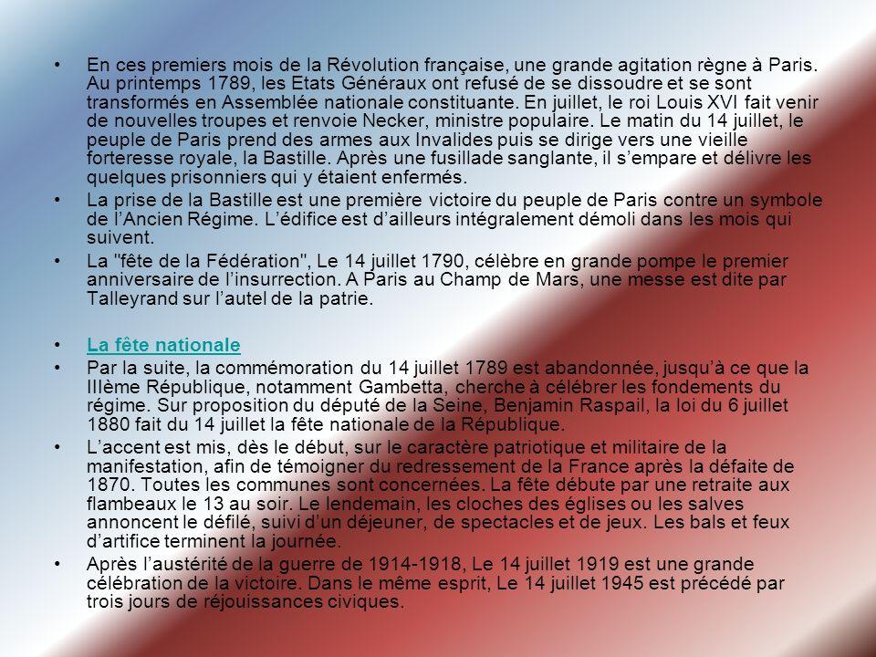 En ces premiers mois de la Révolution française, une grande agitation règne à Paris. Au printemps 1789, les Etats Généraux ont refusé de se dissoudre