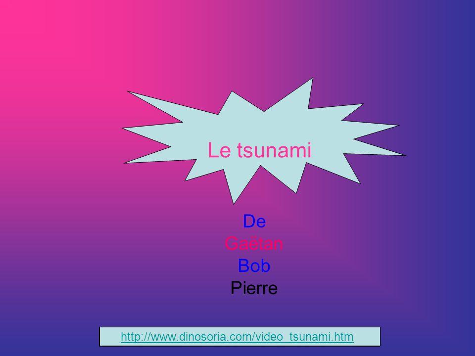 De Gaëtan Bob Pierre Le tsunami http://www.dinosoria.com/video_tsunami.htm