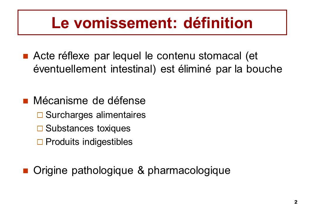 13 Les Toxines et les substances chimiques peuvent entrer dans le liquide céphalorachidien et stimuler la CTZ CTZ