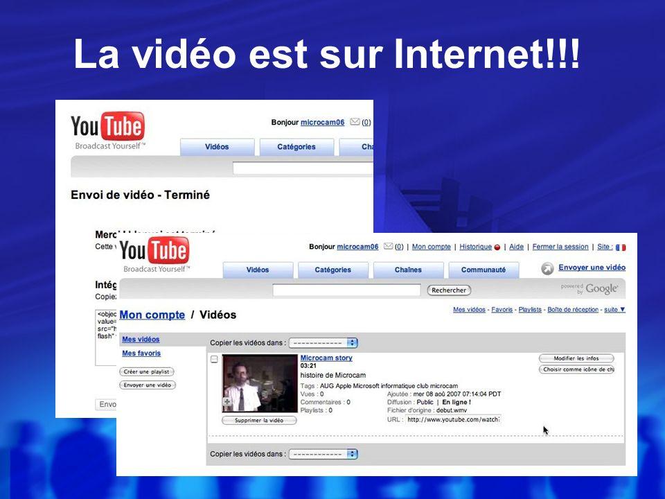 Envoi dune vidéo (bis)