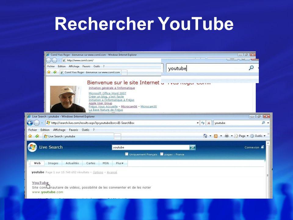 II - YouTube sur un PC et Internet Explorer 7