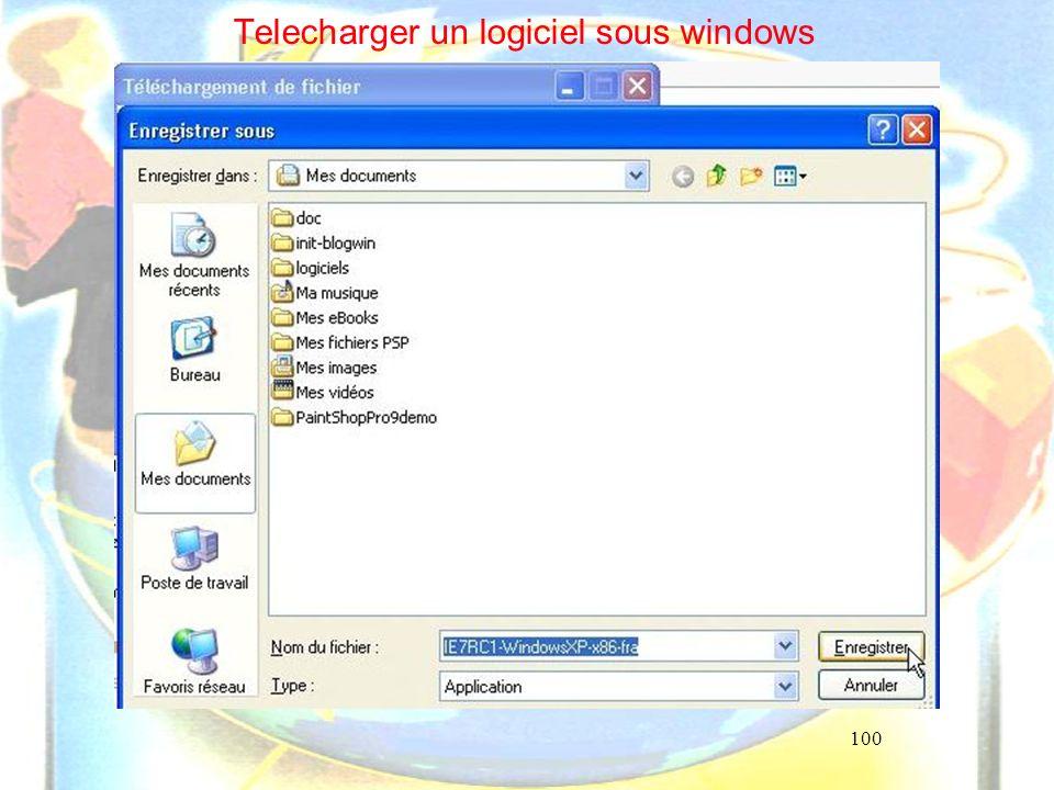 100 Telecharger un logiciel sous windows