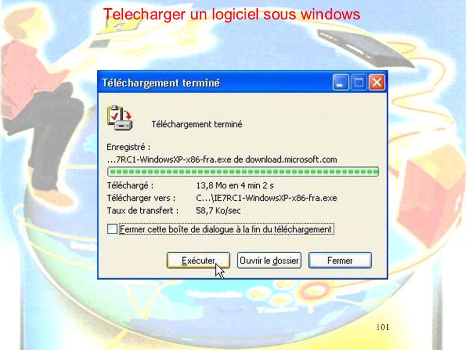 101 Telecharger un logiciel sous windows