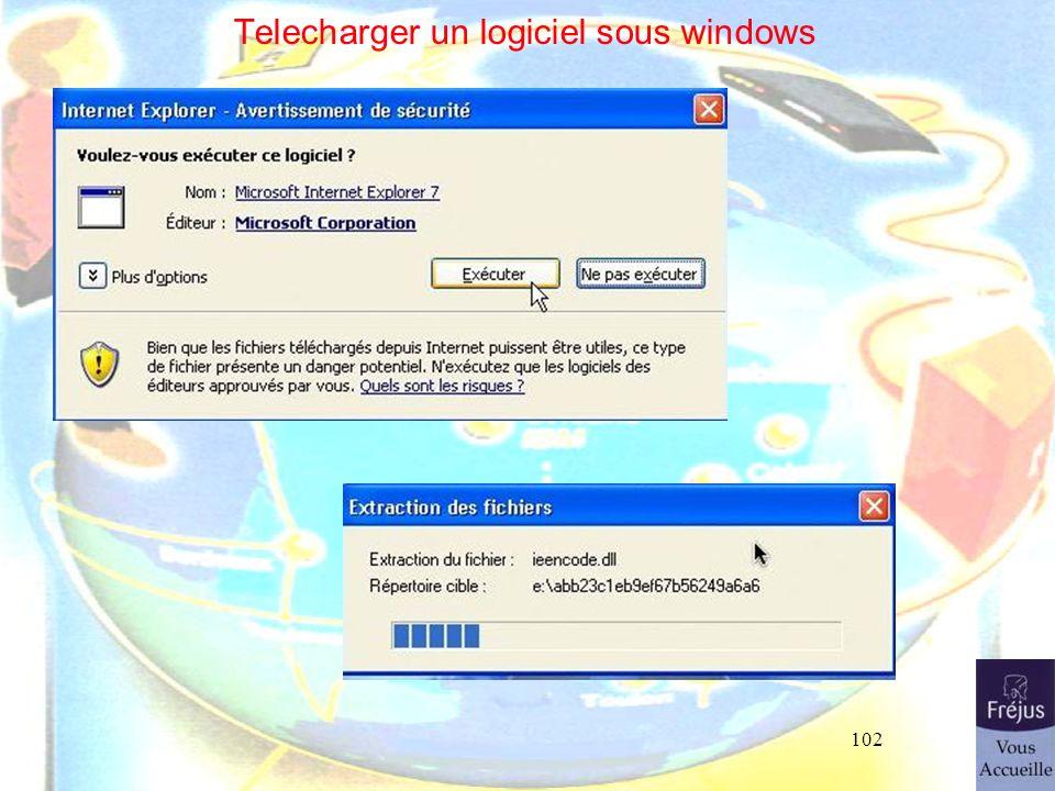 102 Telecharger un logiciel sous windows