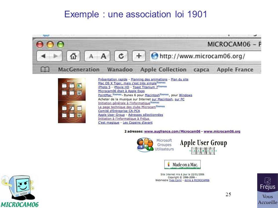 25 Exemple : une association loi 1901
