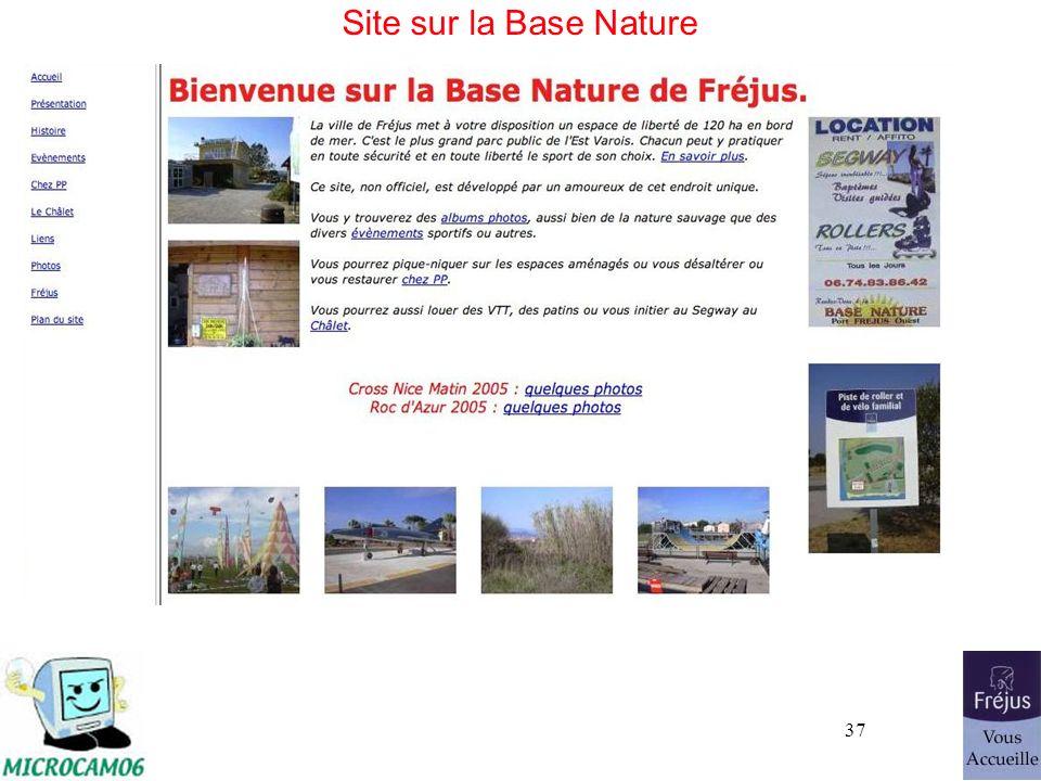 37 Site sur la Base Nature