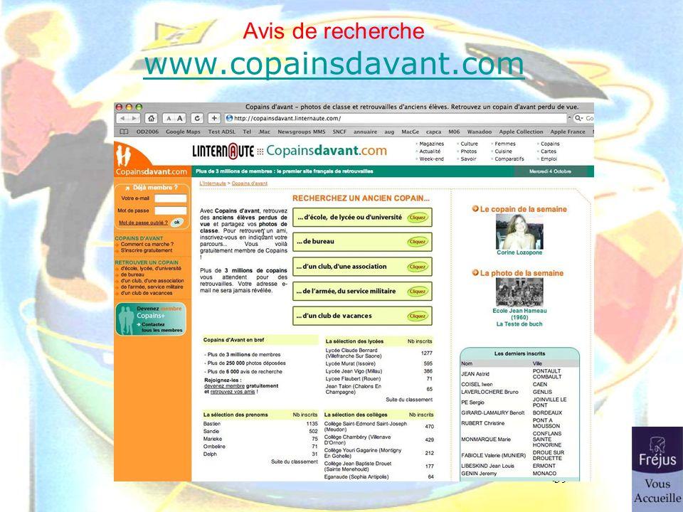 39 Avis de recherche www.copainsdavant.com www.copainsdavant.com