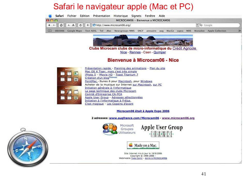 41 Safari le navigateur apple (Mac et PC)