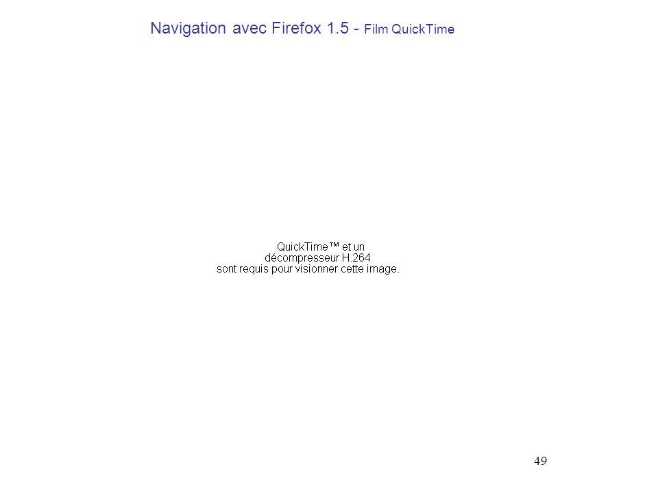 49 Navigation avec Firefox 1.5 - Film QuickTime