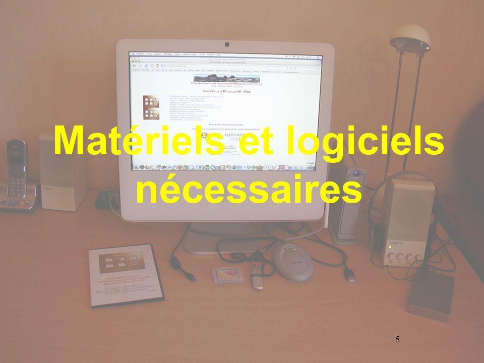 5 Matériels et logiciels nécessaires