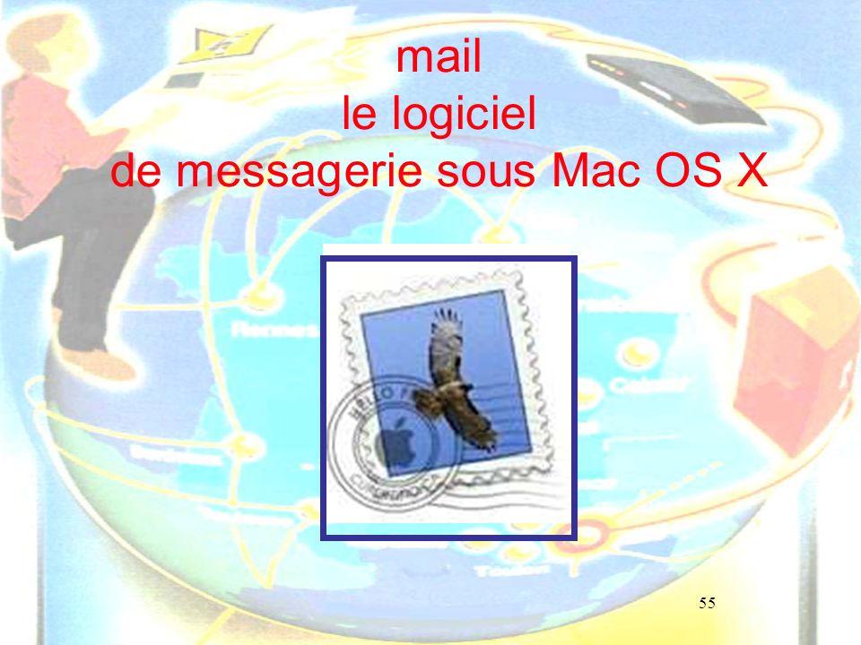 55 mail le logiciel de messagerie sous Mac OS X