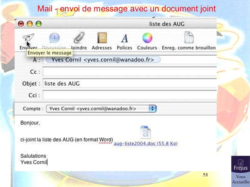 58 Mail - envoi de message avec un document joint