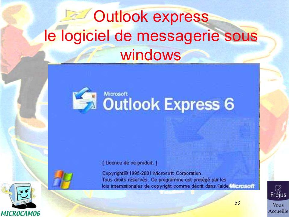 63 Outlook express le logiciel de messagerie sous windows