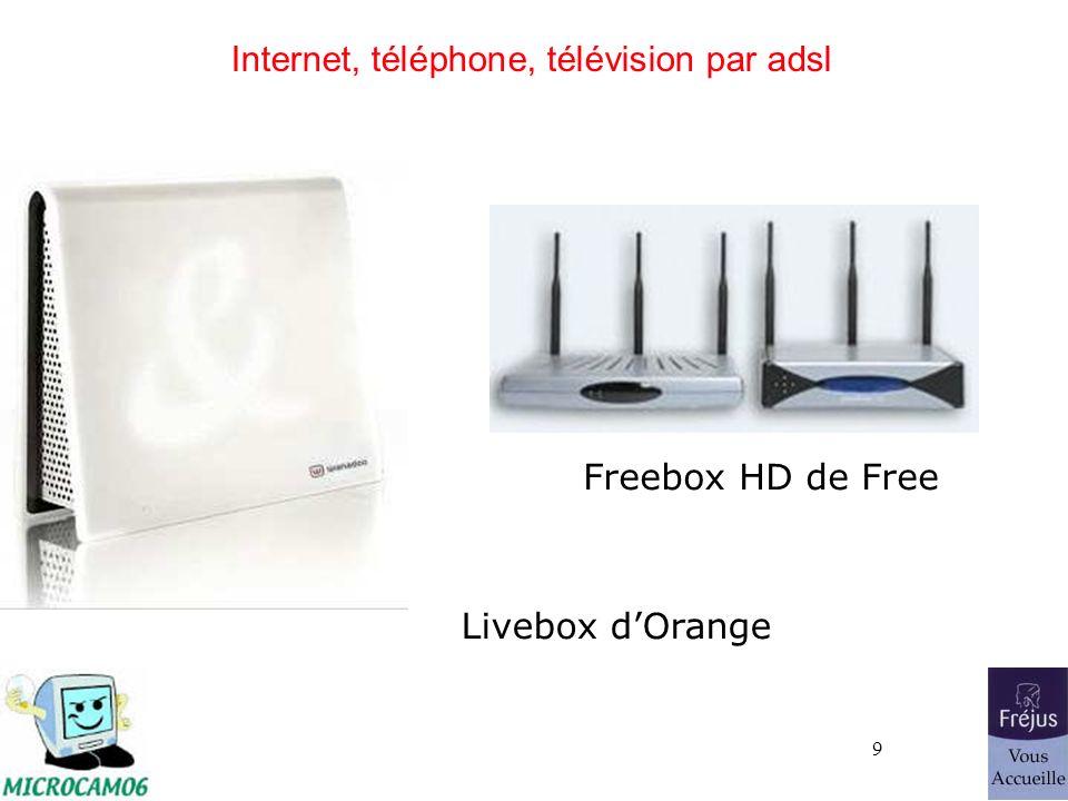 9 Internet, téléphone, télévision par adsl Freebox HD de Free Livebox dOrange