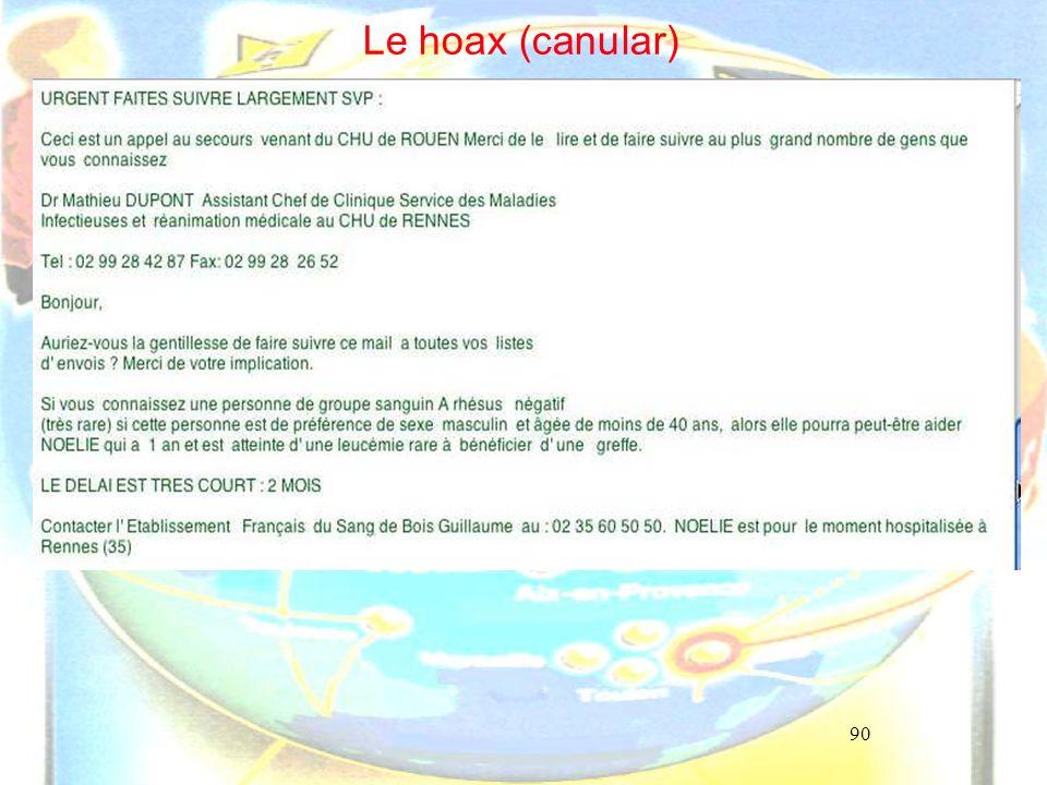90 Le hoax (canular)